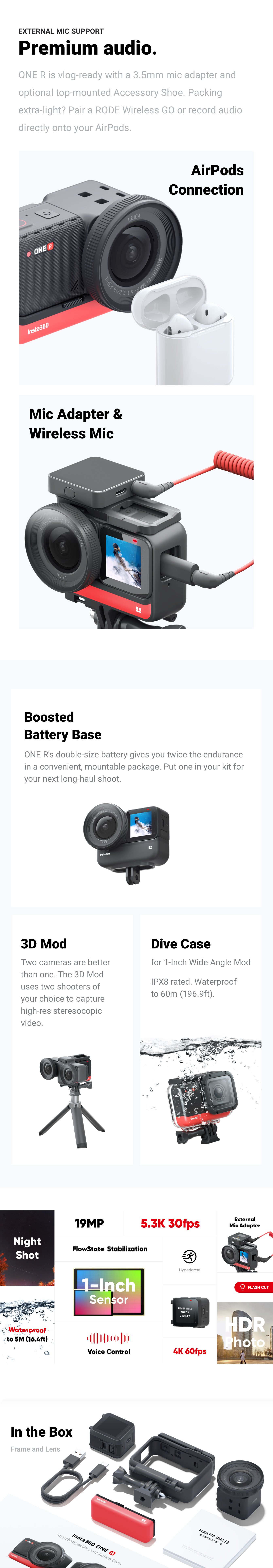Insta360 ONE R 1-Inch opis 3